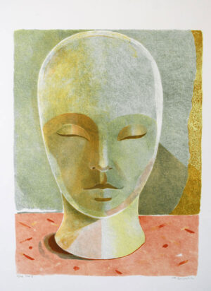 Lithograph Large Head Etat II by Ulf Gripenholm