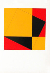 Silk-Screen  Pythagoras (2) by Cajsa Holmstrand