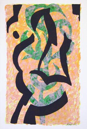 Serigrafi Flora Erotica av Olle Kåks.