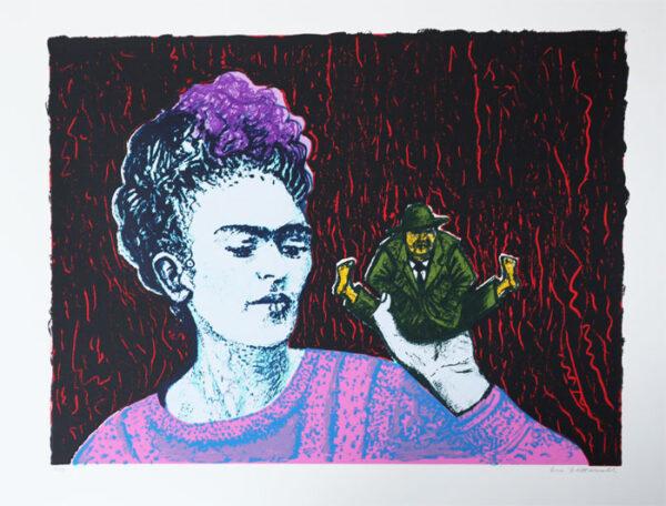 Frida and Diego - Silk-Sreen by Eva Zettervall.