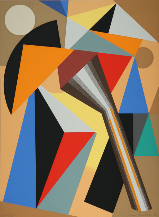 Serigraph Annunciation by C Göran Karlsson