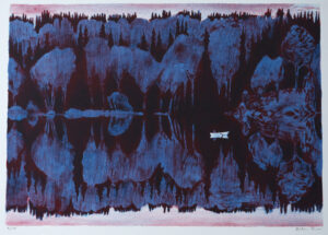 Lithograph On the Other Side of the Lake by Peter Ern