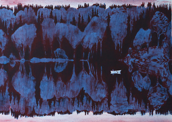 Lithograph On the other Side of the Lake av Peter Ern