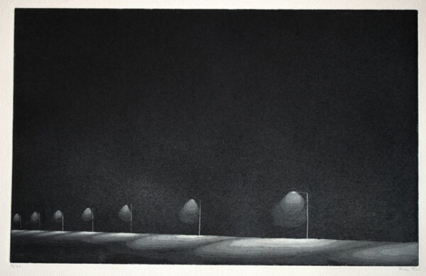 Aquatint Etching Illuminated by Peter Ern