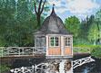 Litografi Ebba Brahes lusthus av Mikael Wahrby