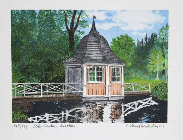 Ebba Brahe´s Gazebo - Lithograph by Mikael Wahrby