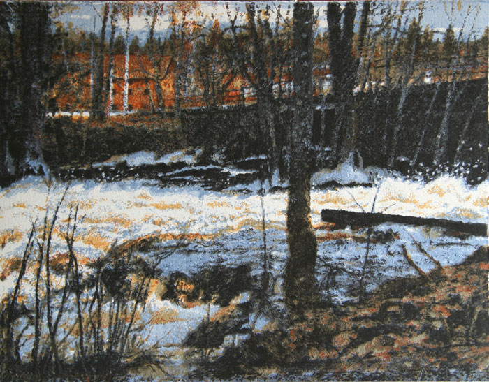 Serigraph At the Rapids in Uttersberg