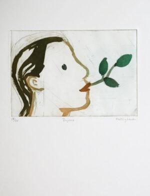 Sockerakvatint Daphne 1 av Eva Mossing Larsen