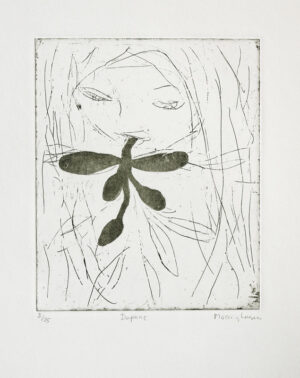 Sugar lift and etching Daphne 2 by Eva Mossing Larsen