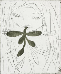 Aquatint and etching Daphne 2 by Eva Mossing Larsen