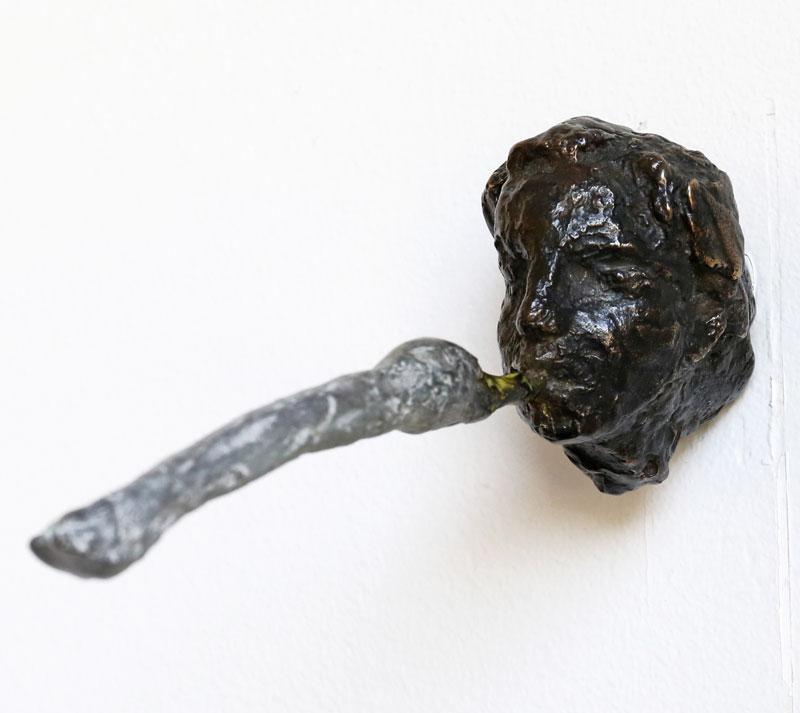 Skulptur i brons Leda och svanen av Eva Mossing Larsen