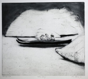 Drypoint Between Icebergs by Lisa Andrén.