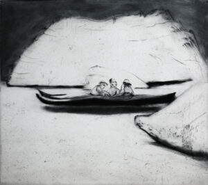 Torrnål Mellan isberg av Lisa Andrén.