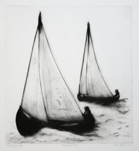 Voyage for Two - Drypoint by Lisa Andrén.