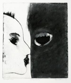 Side by Side - Drypoint by Lisa Andrén.