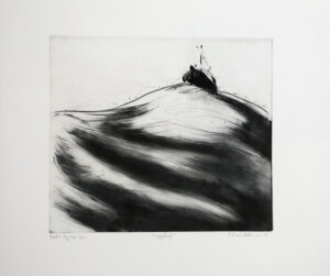 Rough Sea - Drypoint by Lisa Andrén.