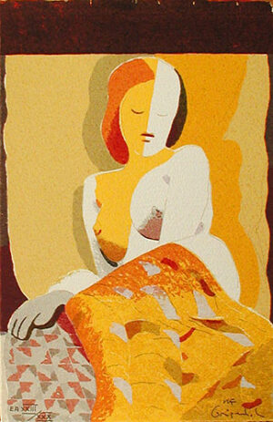 The Yellow - Silk-Screen by Ulf Gripenholm..