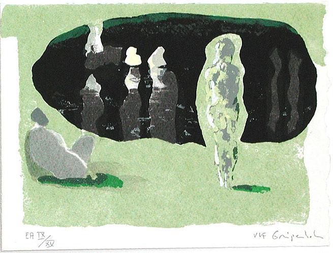 Serigrafi Mörk spegling av Ulf Gripenholm