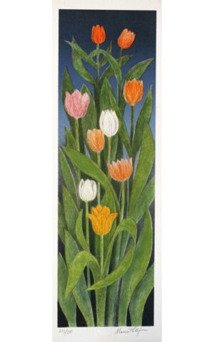 Tulips - Lithograph by Maria Hillfon.