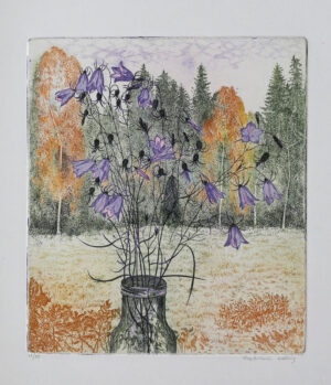 Bluebells - Etching by Eva Holmér Edling.