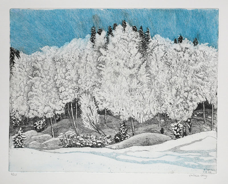 Frost - Etching by Eva Holmér Edling.