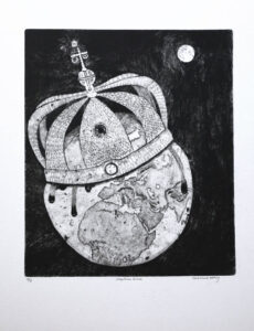 The Crown of Creation - Drypoint by Eva Holmér Edling.