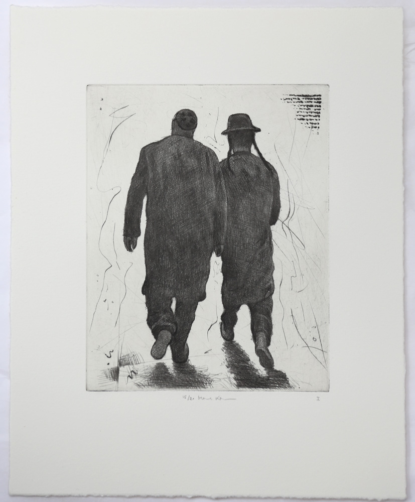 Peoples I - Drypoint by Mikael Kihlman.
