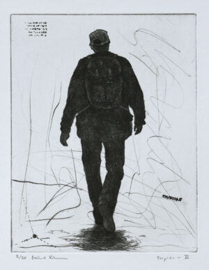 Peoples II - Drypoint by Mikael Kihlman.