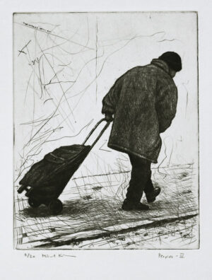 Peoples IV - Drypoint by Mikael Kihlman.