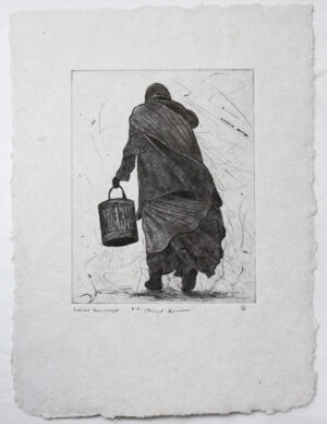 Peoples VI - Drypoint by Mikael Kihlman.