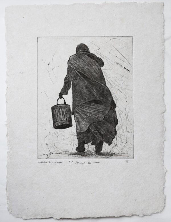 Peoples VI - Drypoint by Mikael Kihlman.
