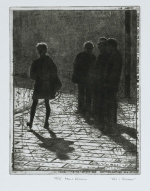 Spring in Krakow - Drypoint by Mikael Kihlman.