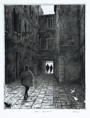 Venice - Drypoint by Mikael Kihlman.