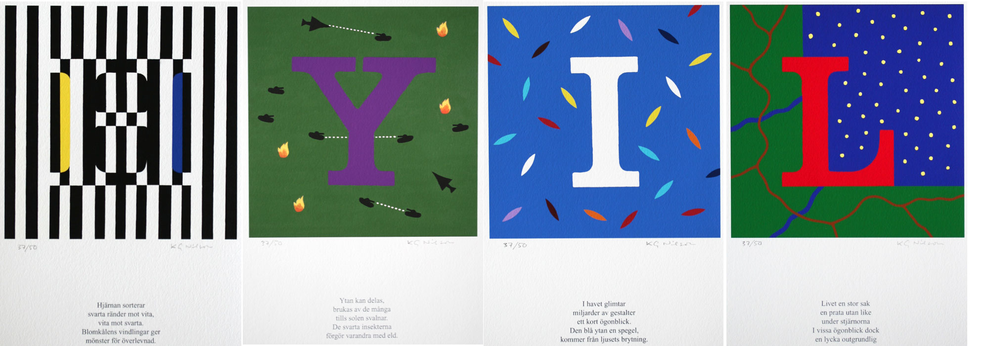Initials - Giclée by KG Nilson