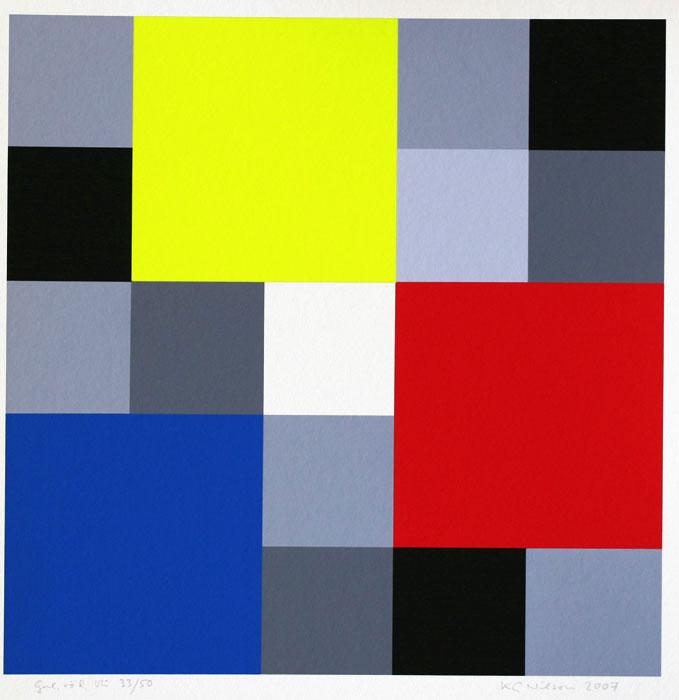 Giclée Gul, röd, blå av KG Nilson