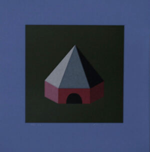 House at Dusk - Silk-Screen by KG Nilson