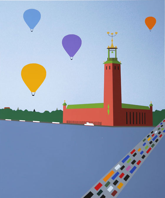 The City Hall of Stockholm - Giclée by KG Nilson