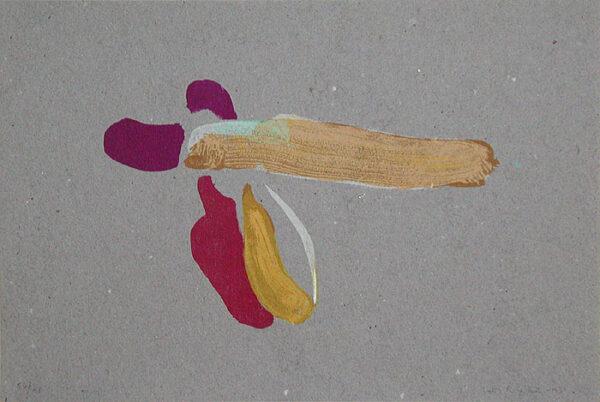 Stenlitografi Lacoste i september av Lotti Ringström.