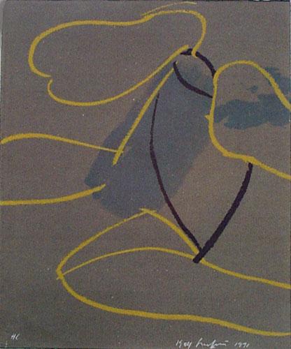 Serigrafi Fladder av Kjell Strandqvist