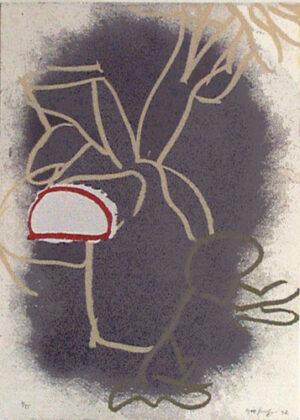 Serigrafi Löpare av Kjell Strandqvist
