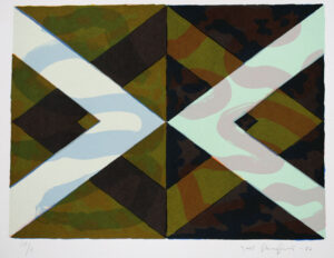 Rhomboid Variation I - Silk-Screen by Kjell Strandqvist