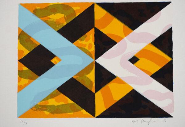 Rhomboid Variation II - Silk-Screen by Kjell Strandqvist