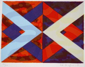 Serigrafi Romboid variation III av Kjell Strandqvist