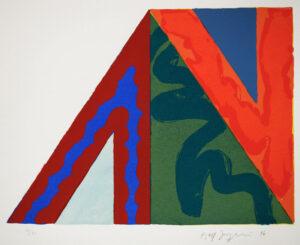 Serigrafi Tema Pyramid I av Kjell Strandqvist