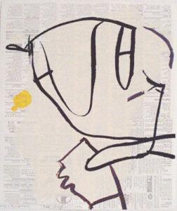 Serigrafi Tecken av Kjell Strandqvist