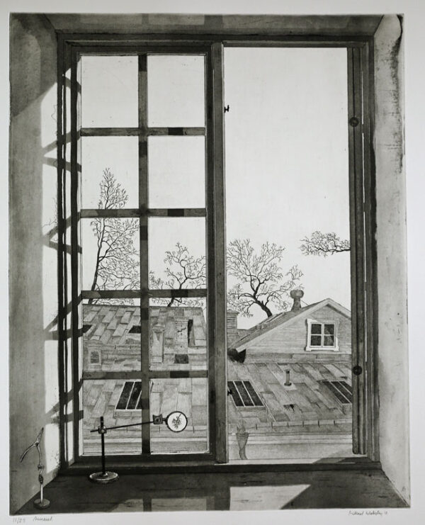 The Annexe - Etching by Mikael Wahrby
