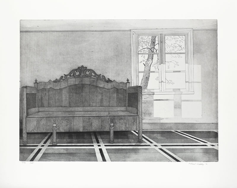 Hall - Etching by Mikael Wahrby