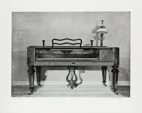 Square Piano - Etching by Mikael Wahrby