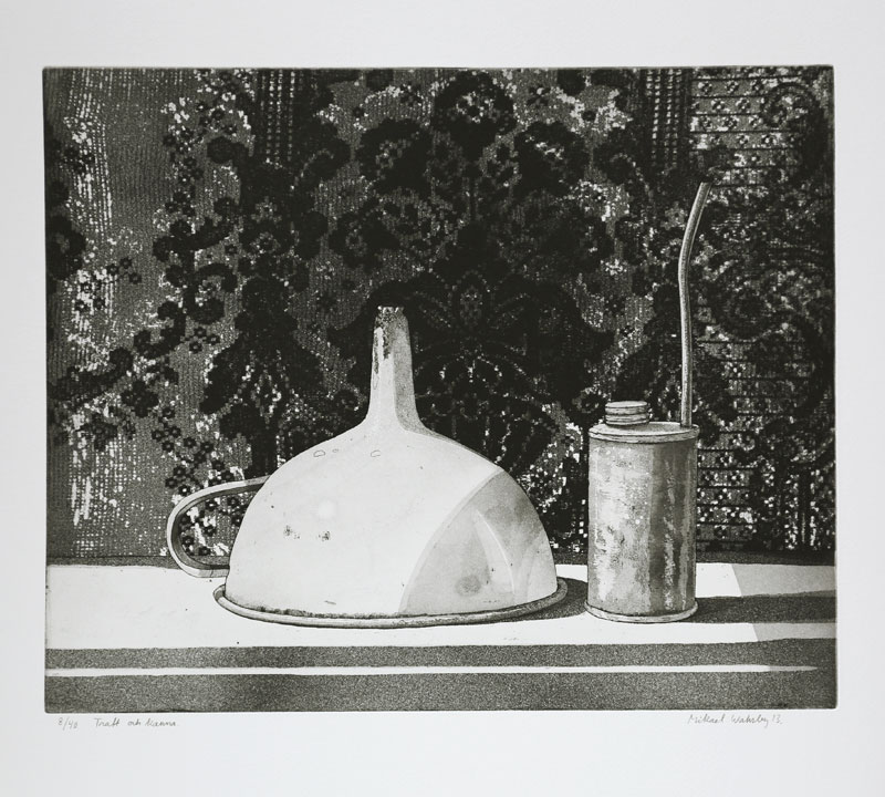 Funnel and Pitcher - Etching by Mikael Wahrby