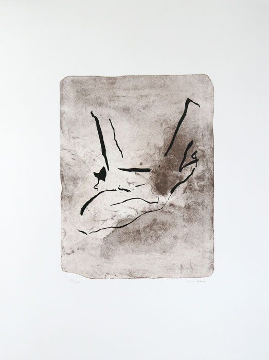 Gate- Lithography on stone by Curt Asker.